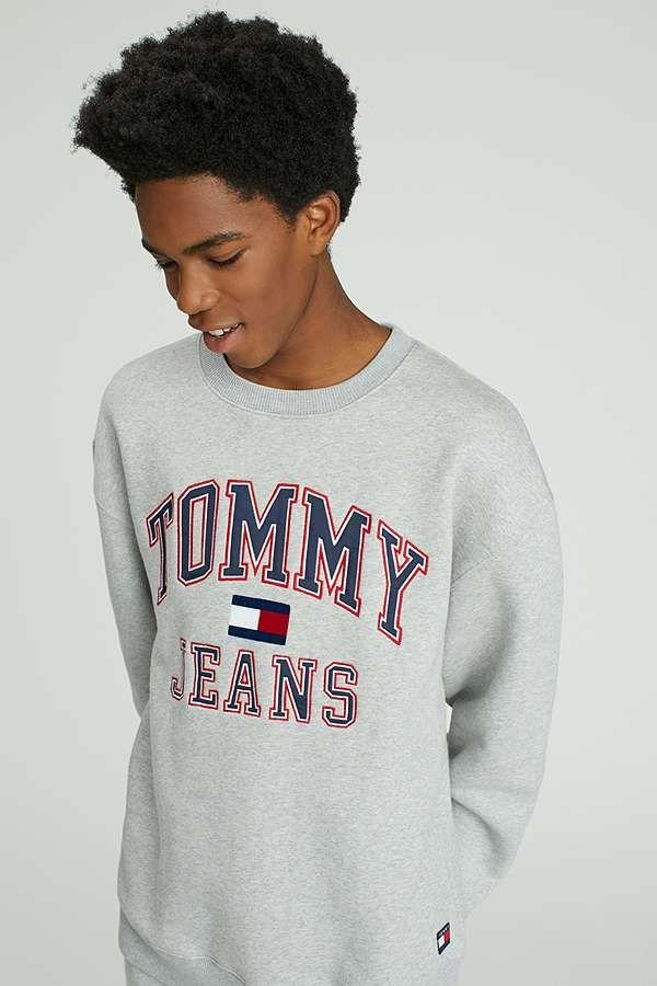 25eadb84 Tommy Jeans '90s Grey Marl Crewneck Sweatshirt | Declan gift ideas ...