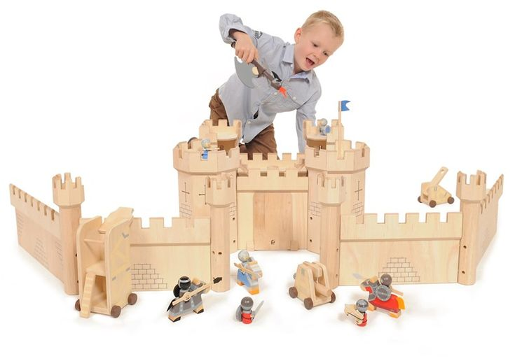 Kids Bedroom Furniture Kids Wooden Toys Online: Wooden Medieval Castle Bundle