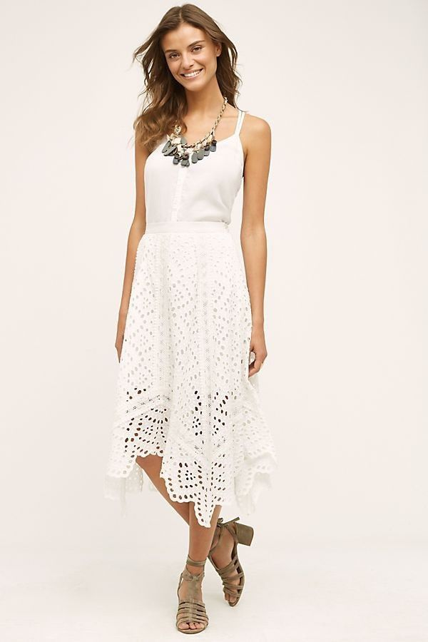 0b2487887b ANTHROPOLOGIE Foxiedox White Crocheted Skirt Sz Large - NWT! #fashion # clothing #shoes #accessories #womensclothing #skirts (ebay link)