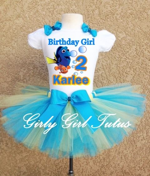 PRODUCTION TIME FOR TUTU OUTFITS IS 2 Weeks  Birthday Outfit sizes available Baby up to 6X  ORDERING INSTRUCTIONS  AT CHECKOUTS THERE IS A NOTE SECTION THAT YOU WILL MAKE NOTE OF NAME AND BIRTHDAY NUMBER FOR SHIRT This is very important .... Mi...