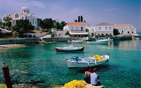 Spetses Island, Greece! Loved this place. Not many cars on the island. People were on scooters and horseback.