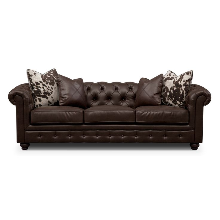 Value City Furniture Prices: Madeline II Leather Sofa - Value City Furniture