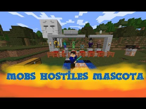 Mobs Hostiles Como Mascota!!! | Tutorial Comandos | 1.8 - YouTube