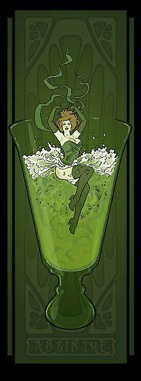 Modern Art Nouveau Absinthe Poster