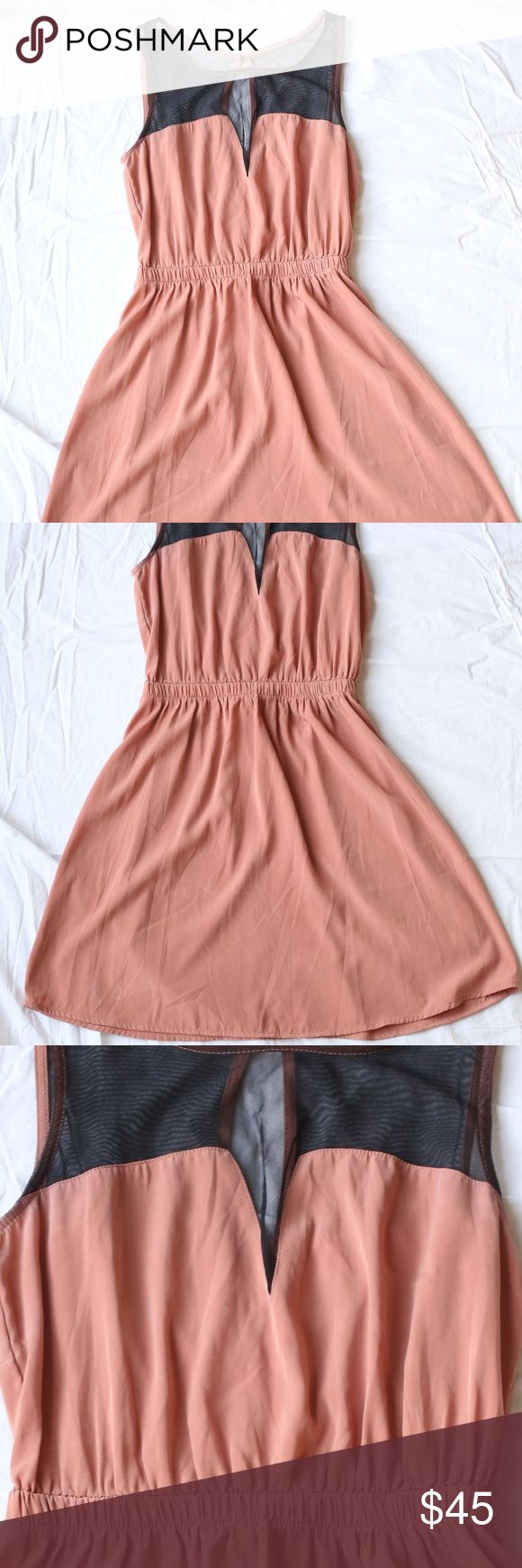 Lush Orange/Salmon Dress As good as new! Lush Dresses