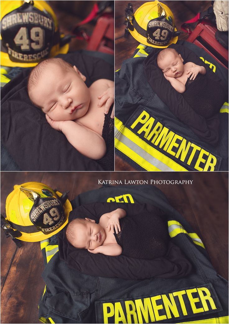 Massachusetts Newborn Photographer, Fire Fighter