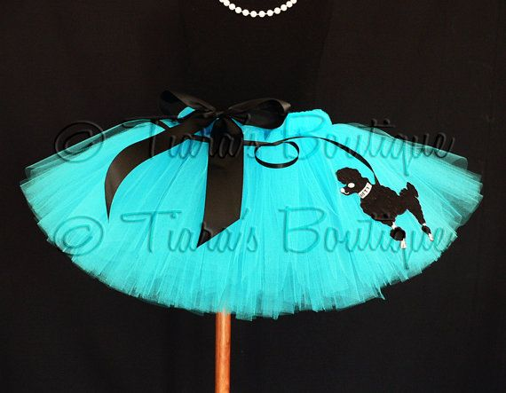 Tutu  Sock Hop Sweetie  50's inspired poodle skirt by TiarasTutus, $40.00