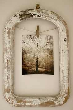 A unique way to display a photo-very lovely.