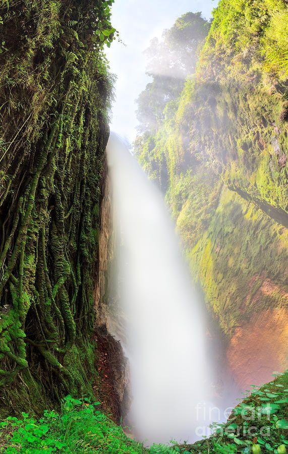 Blawan waterfall. Java. Indonesia.