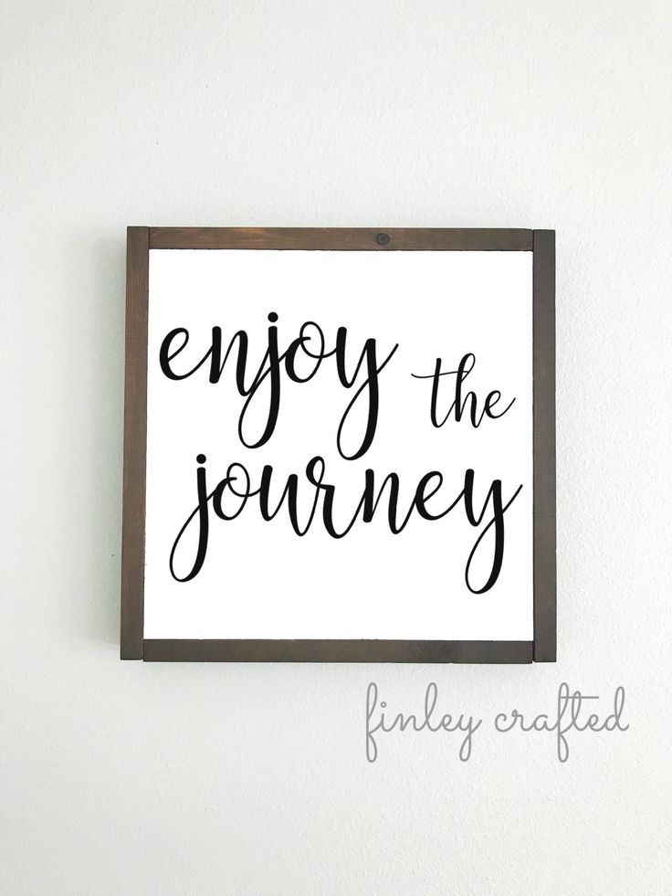 Excited to share the latest addition to my #etsy shop: enjoy the journey farmhouse wooden sign inspirational quote wood sign