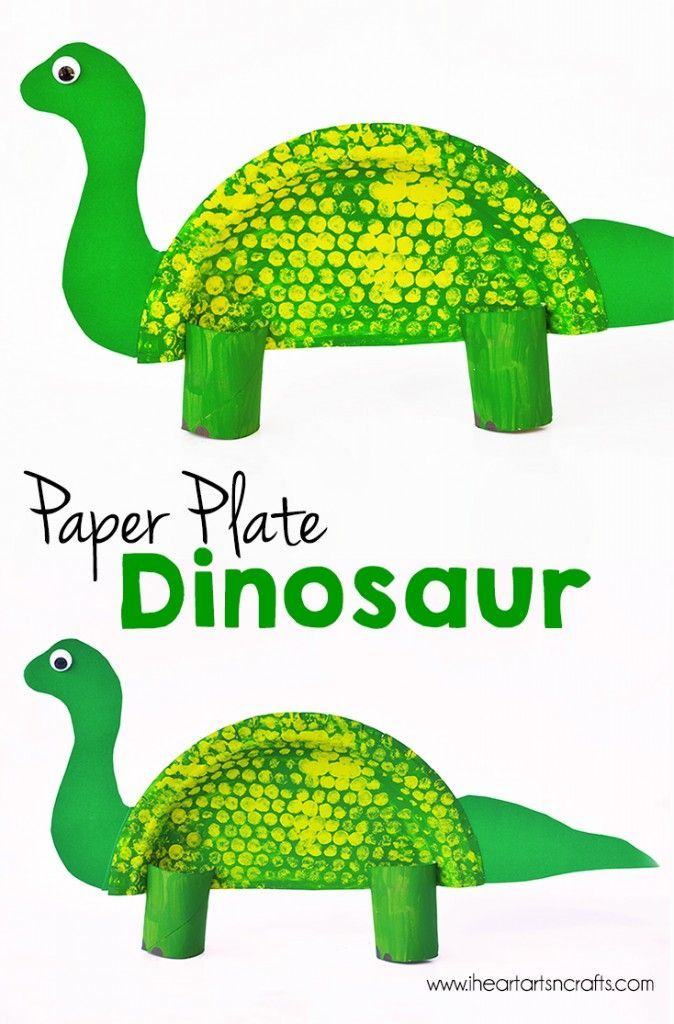 paper plate craft, dinosaur craft for dino lovers