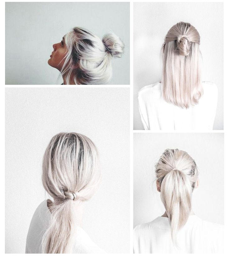 Cute and simple hair styles that I'm excited to try! Besides the messy bun...lol I wear that one almost every day‍♀️ Follow me for more ♡Pinterest ➳ @EnchantedInPink♡