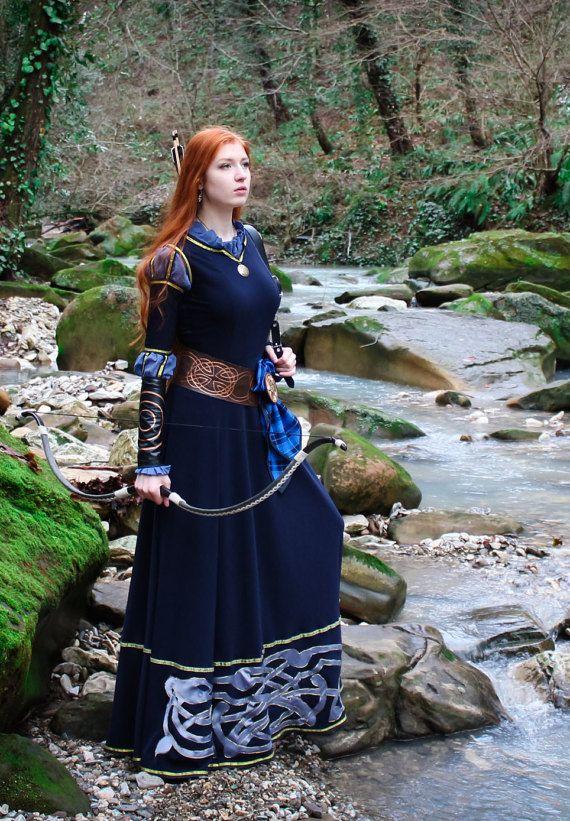 LISTO PARA ENVIAR Mérida cosplay vestido Traje de la por NothernFox