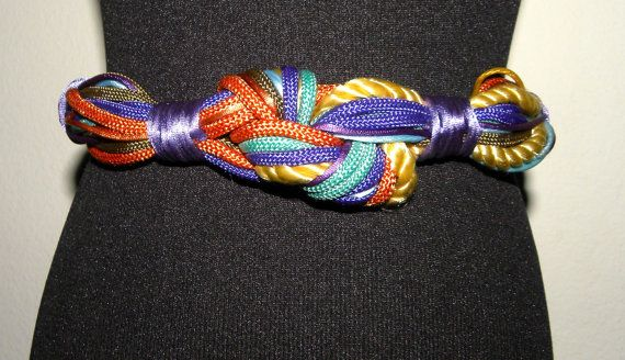 1980's 80s Braided BELT / Colorful / Cord by JewvenchyVintageshop