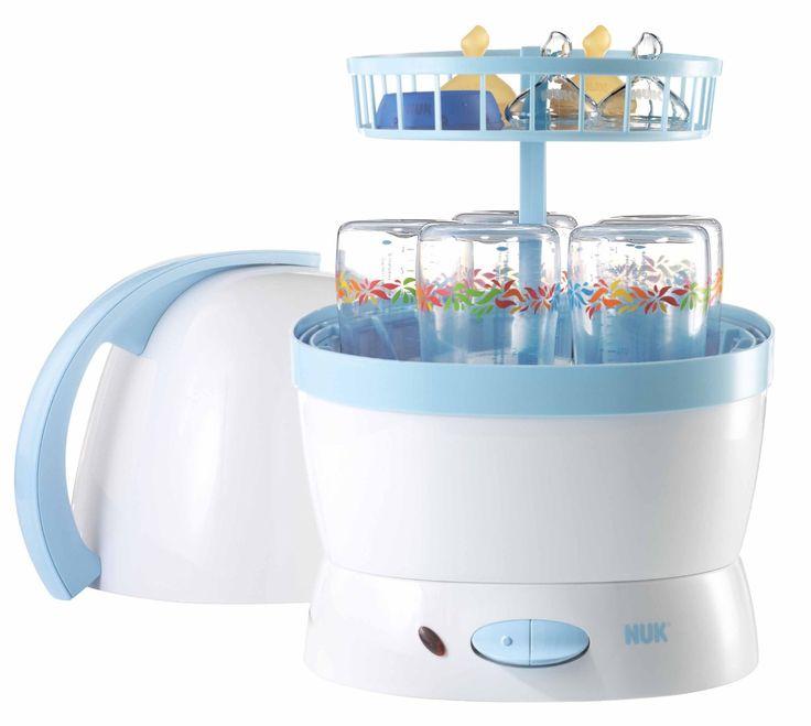 NUK 10251010 - Vaporisator / Auskocher für bis zu 5 Flaschen, Sauger und Zubehör, Farbe blau/weiss: Amazon.de: Baby