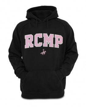 $49.99 RCMP Ladies Hoodie: Ladies, this RCMP Hoodie is for you! Sleek, modern and stylish, the RCMP Ladies Hoodie is the first of its kind offered by The Mountie Shop specifically designed for women. Show your pride for the RCMP with this 100% polyester hoodie in unisex sizing while you lounge, walk or exercise in this delightfully pink-touched Hoodie. Learn more at www.themountieshop.ca