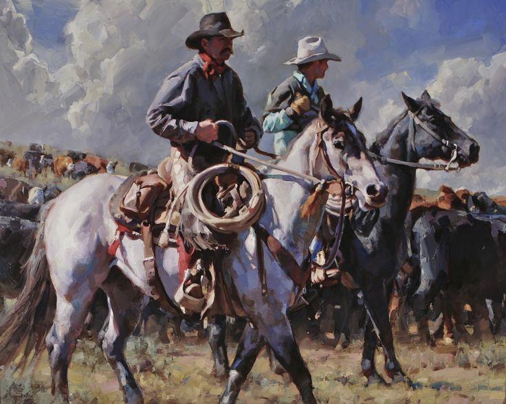 """Gathering at the Basin"" by Jason Rich (Cowboy Artist)"