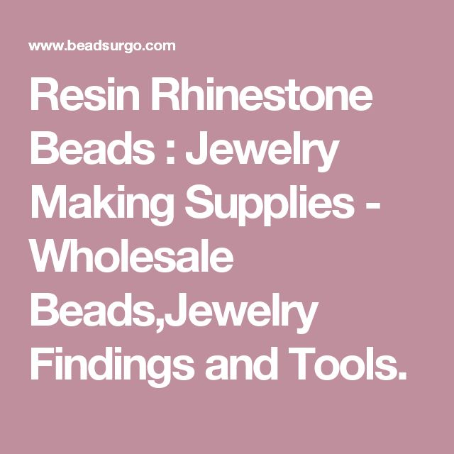 Resin Rhinestone Beads : Jewelry Making Supplies - Wholesale Beads,Jewelry Findings and Tools.