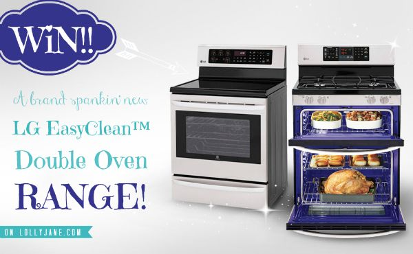 Win an LG EasyClean Double Oven Range giveaway on lollyjane.com!