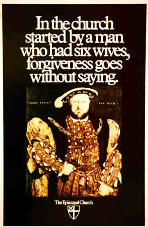 I spent a good part of the day looking for this poster reproduced.  I saw three ads for Catholic schools from the same era.  I love good advertising.  Not enough of it today.  This is from the early 1980's Episcopal Ad Project- right at the time I was studying advertising.