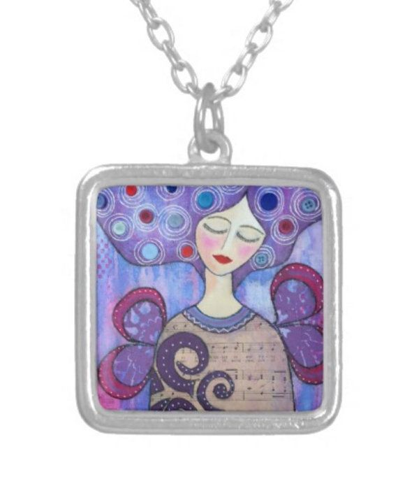 NECKLACE sterling silver plated: 'Finding by MrsButtonsEmporium