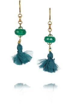 Isabel Marant Beaded tassel #earrings #jewelry