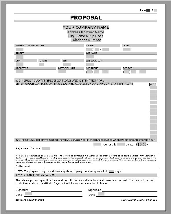 Job Proposal Sample. Sales Proposal Template Free Download Create
