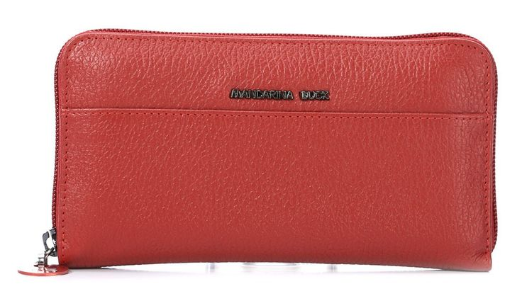 wardow.com - Mandarina Duck, Mellow Leather Geldbörse Damen Leder rot 19 cm