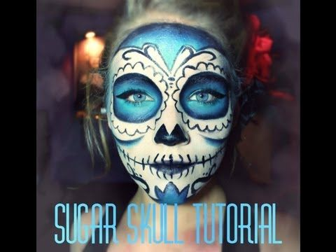 Sugar Skull Face paint tutorial. Dia de los muertos (Day of the Dead) - YouTube