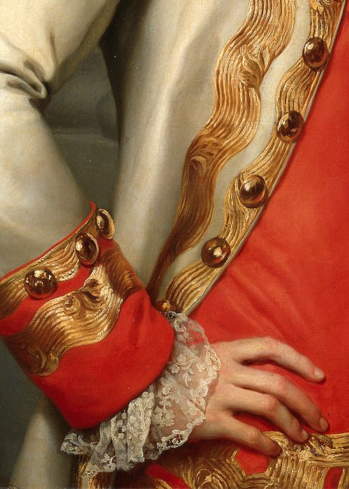 Anton Raphael Mengs, Leopoldo de Lorena (detail), 1770 . Museo Nacional del Prado . Madrid . Spain