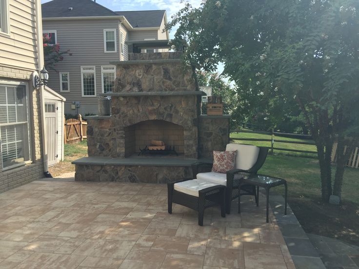 Marvelous An Outdoor Stone Fireplace On A Hanover Paver Patio In Leesburg, VA.
