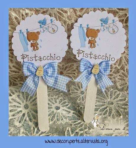 LOLLIPOP - GUSTI CONFETTI PER BATTESIMO BIMBO - baptism baby boy card