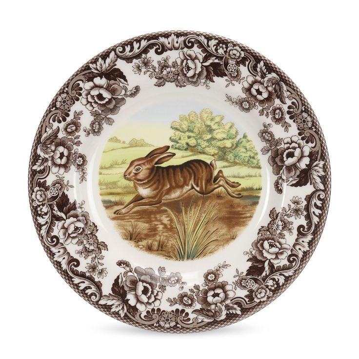 Amazon.com | Spode Woodland Rabbit Dinner Plate, 27cm: Spode Dinnerware: Dinner Plates