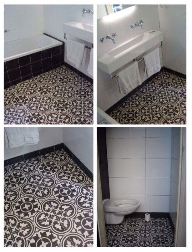 Badkamer tegel wonen1 pinterest - Badkamer tegel cement ...