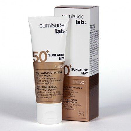 Farmacia Jiménez | Cumlaude Sunlaude Mat SPF50+ Fluido 50 ml