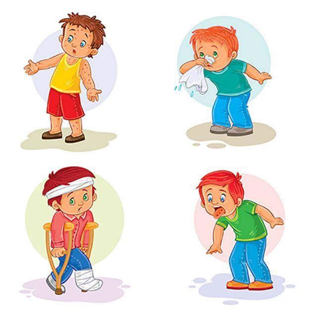 مجموعة أيقونات طفل صغير مريض حمى شاب صبي Png والمتجهات للتحميل مجانا Cute Little Boys Kids Vector Boys