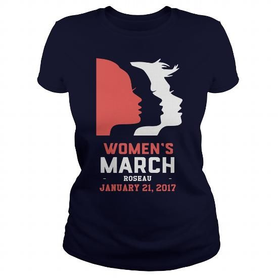 Womens March ROSEAU Shirt - January 21, 2017 - Hot Trend T-shirts