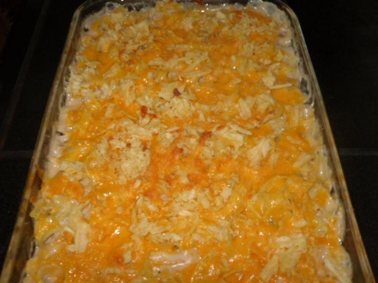 Mom's Recipe Site » Recipe For Tuna Noodle Casserole With Potato Chips & Campbells Mushroom soup