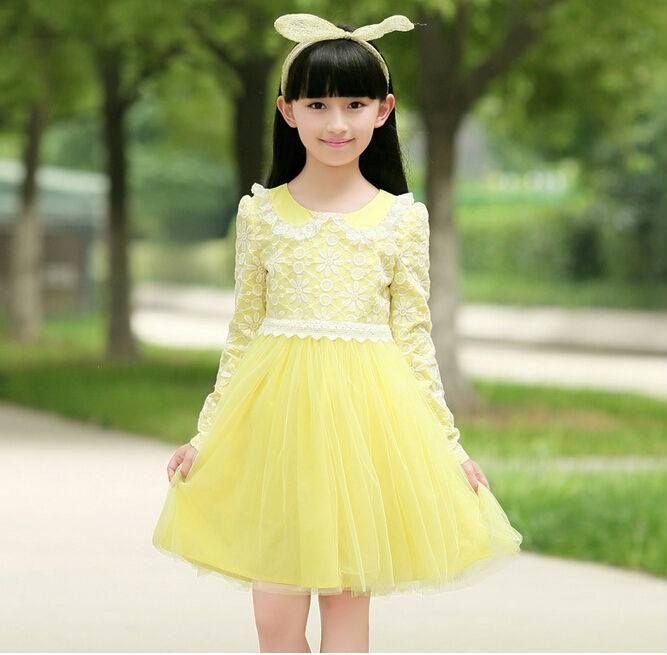8ef87c50ce61 Stylish Elegance Infinite Lemon Autumn Dress for kids girls   kidsgirlsdresses Sizes  4-5 years 5-6 years 6-7 years 7-8…