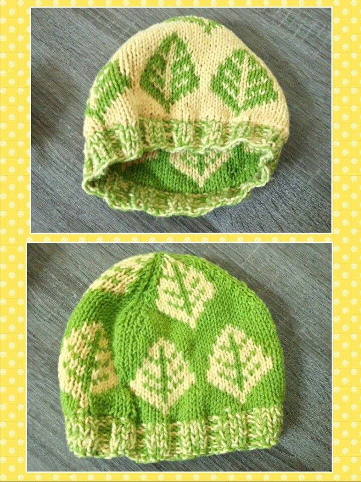Baby hat, double knitting. Made this several months ago