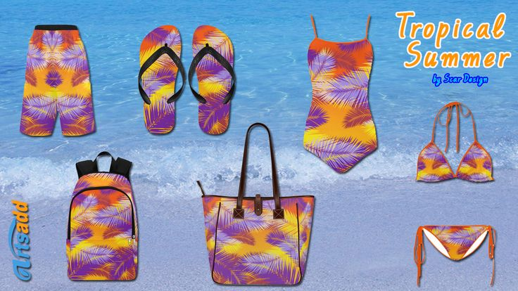 Tropical Summer Swiming set by Scar Design. #summer #tropical #swimmingtrunks #swimsuit #bikini #summer2017 #flipflops #backpack  #swimwear #beachbag #totebag #beach #artsadd #scardesign #swimtrunks #bikinisets #summerfashion #giftsforhim #giftsforher