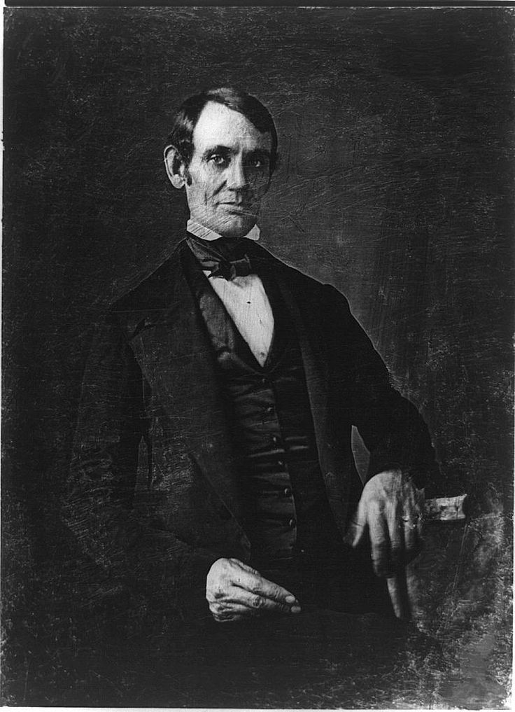 First photo of American President - Abraham Lincoln - made by Matthew B. Brady in 1846.