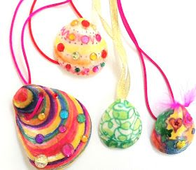 Riley just inherited a bunch of shells so we need some shell crafts asap! : DIY Kids Craft - Sea Shell Necklace Pendant
