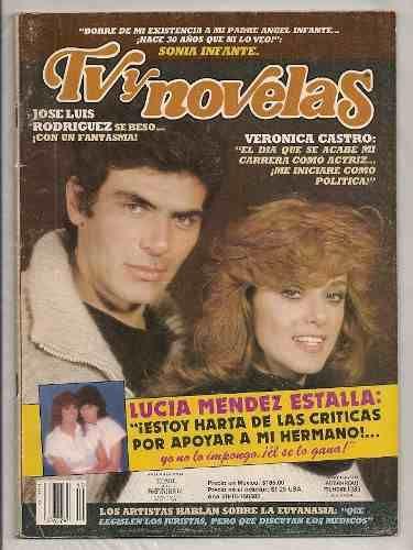 Lucía Méndez Verónica Castro Revista Tvynovelas De 1985 - $ 149.00