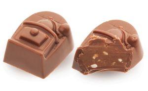 Конфеты ручной работы Frade МЕЛЬНИЦА Ореховая начинка с молочным шоколадом и воздушный рис в карамели - всё перемелится.