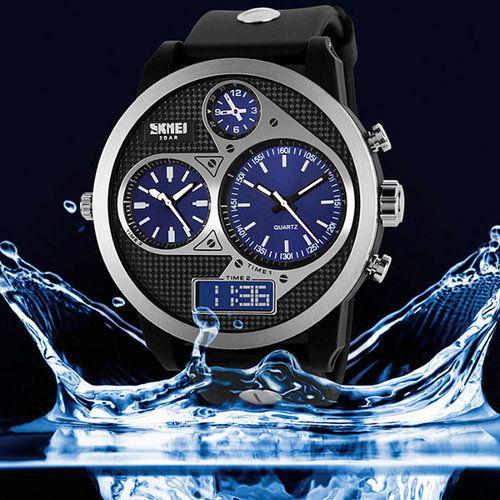 Mens Luxury Watches Fashion Designer PU Band and Waterproof Analog Quartz watch