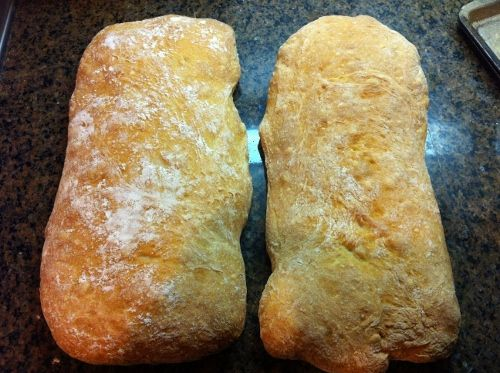 Ciabatta Bread.  This is the first thing I made with Kitchen Aid Mixer.  So worth it!