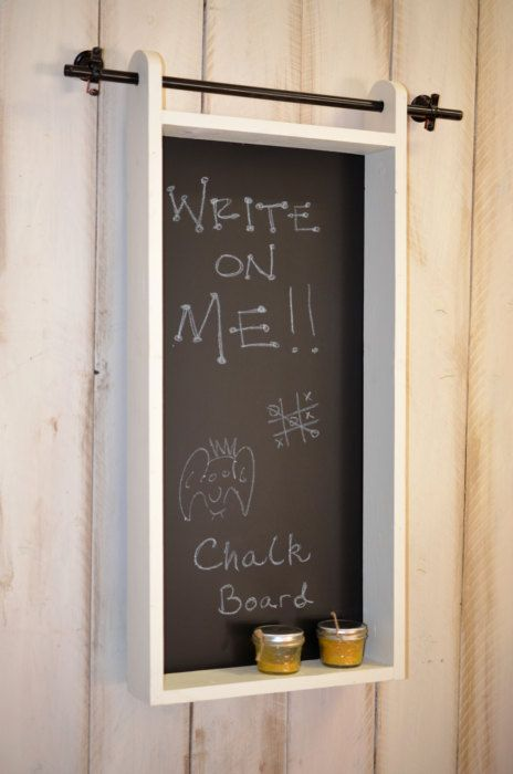 Chalkboard Mail Organizer Wall Mounted By Rchristopherdesigns 59 99