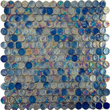 ISI  Circles, Circles, Blue, Glossy & Iridescent, Blue, Glass 12.00