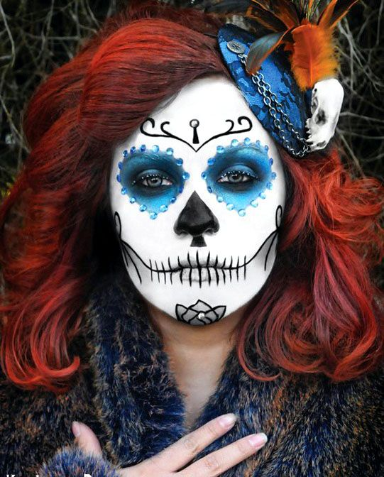 40 beautiful face painting ideas for your inspiration read full article http - Halloween Skull Face Paint Ideas